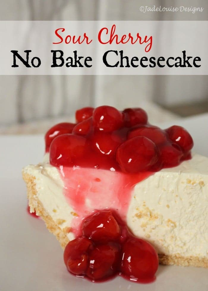 Sour Cherry No Bake Cheesecake