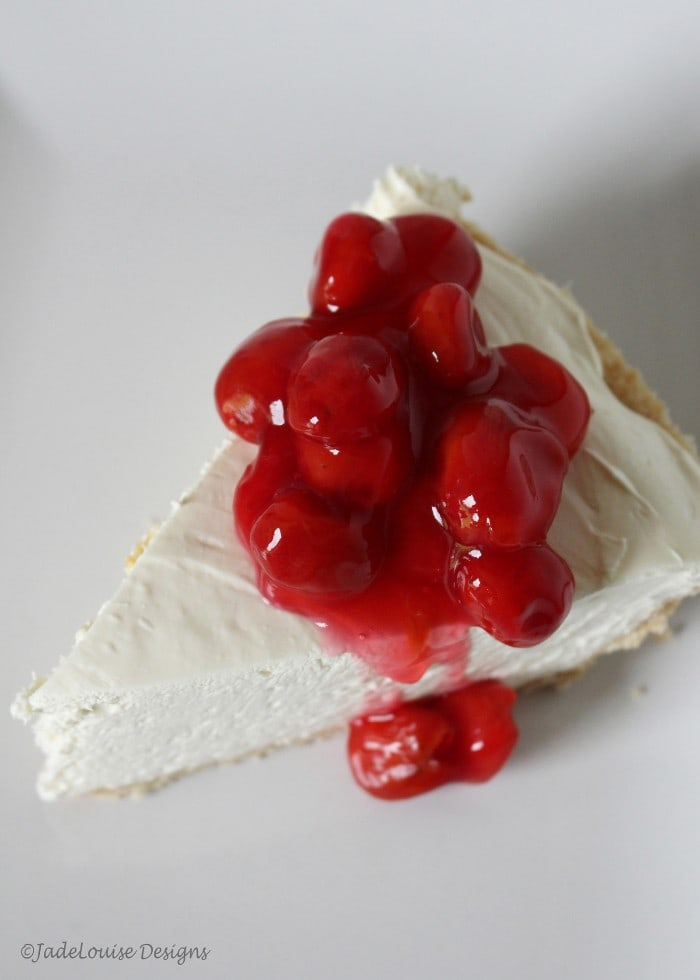 The perfect sour cherry no bake cheesecake