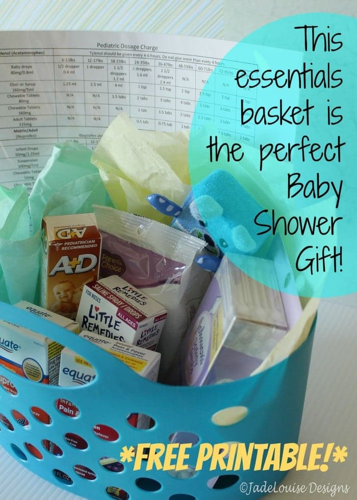 The perfect baby shower gift plus free printable this basket of essentials makes the perfect baby shower gift negle Images