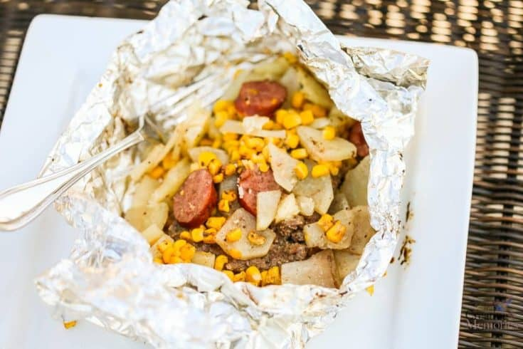 Easy Hobo Dinner, Tin Foil Dinner