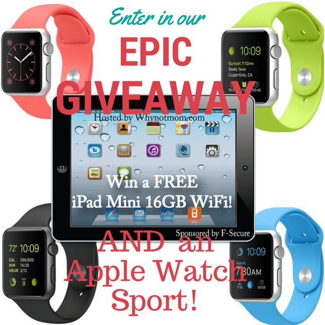 Win an iPad Mini and Apple Watch!
