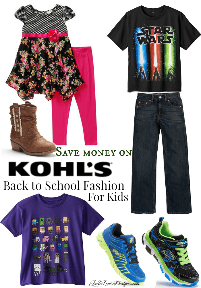 Save on Back to school Fashion at Kohls