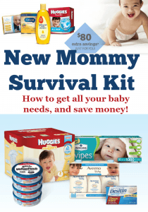 New Mommy survival kit, great gift idea for new moms!