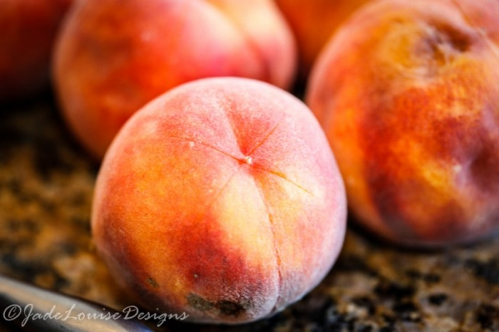 How to Peel Peaches easily, Blanched Peaches