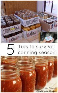 5 Tips for Surviving Canning Season