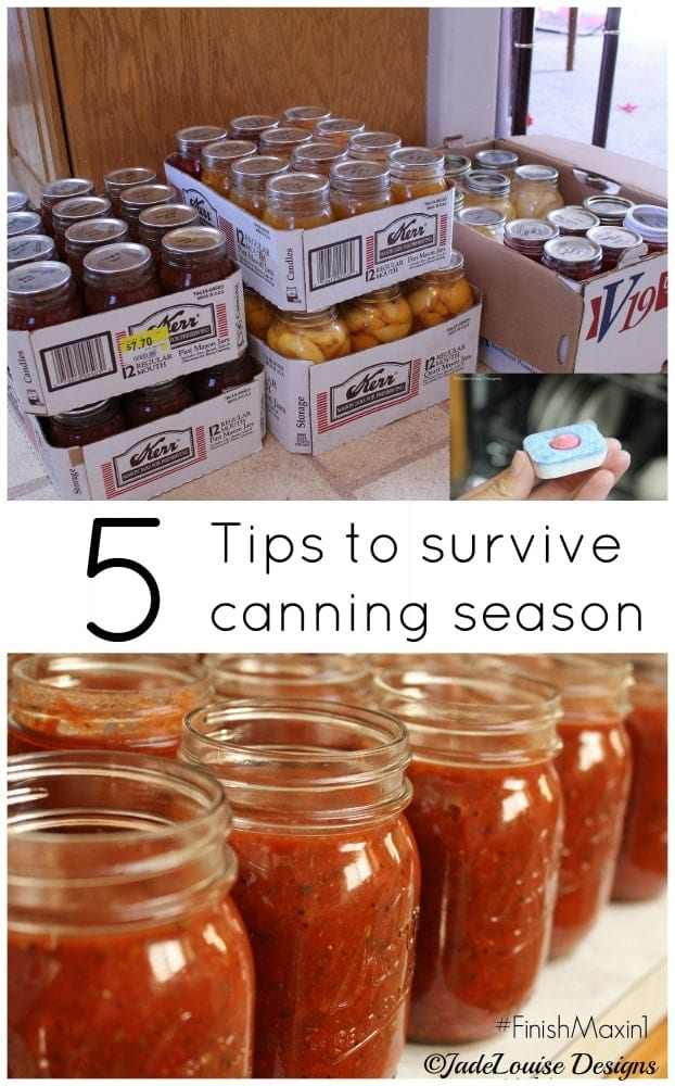 5 Tips to help survive canning season