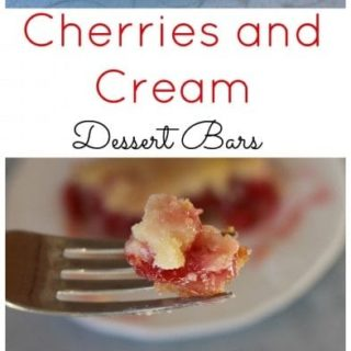 Delicious Cherries and Cream Dessert Bars
