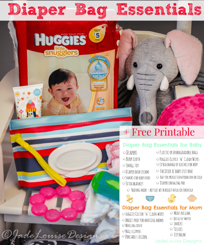 Diaper Bag Essentials + Printable What you need to pack a ...