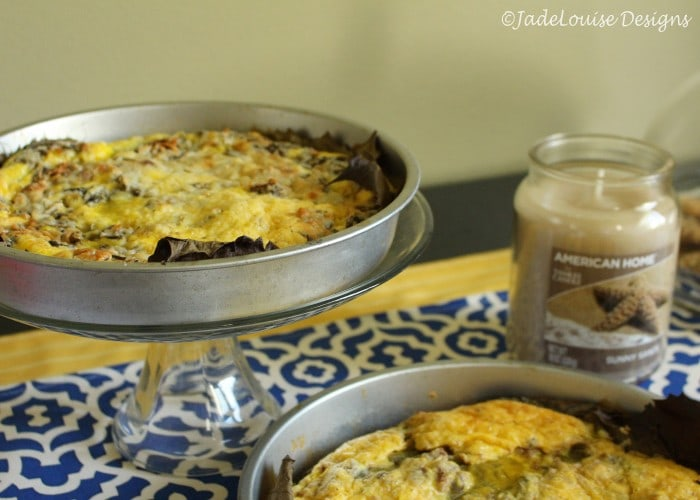 Frittata for fall with an American Home by Yankee Candle