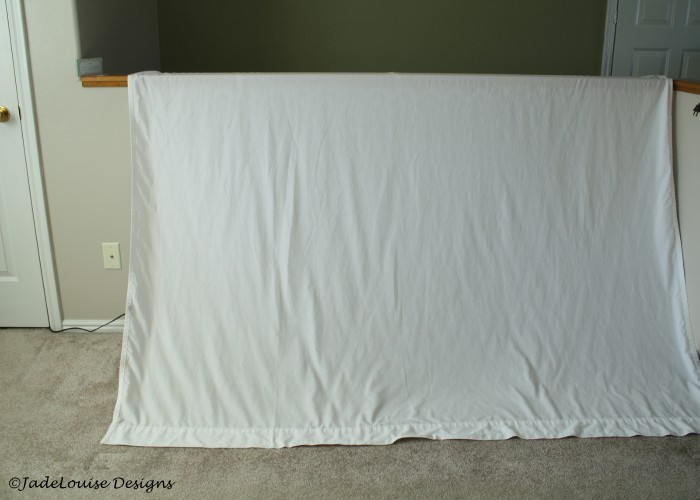 White sheet for backdrop