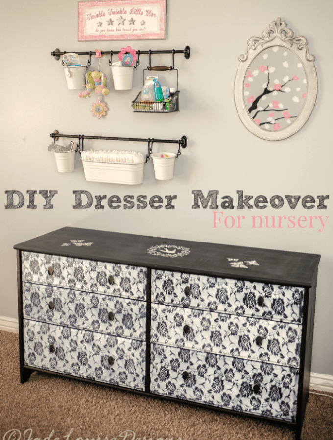 DIY Dresser Makeover for a nursery
