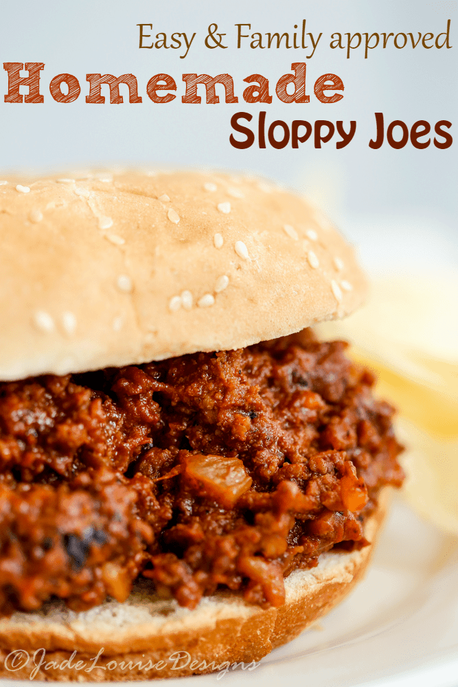 Create a mouth watering family dinner in 30 minutes with these easy homemade Sloppy Joes! Great for potluck or big family gatherings.
