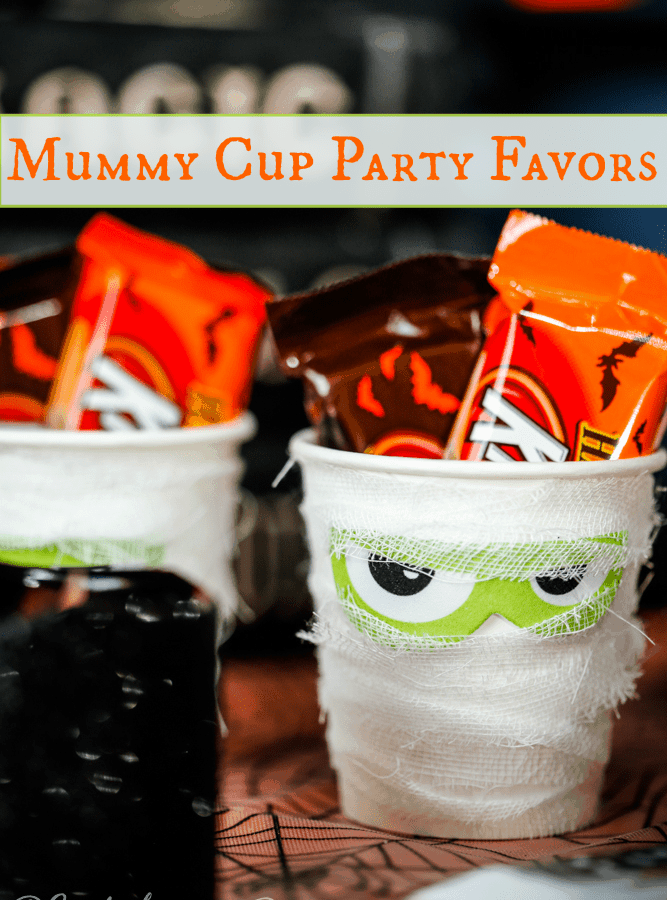 Easy Halloween Craft Mummy Treat Cup Party Favor