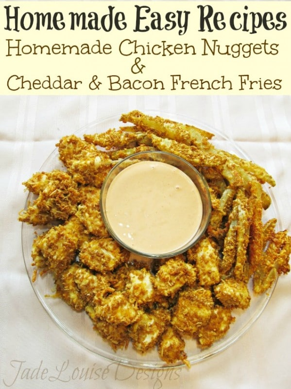 Homemade Easy recipes; Homemade Chicken Nuggets and Gourmet Fries with ...