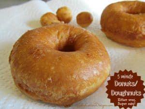Doughnuts made easy, Doughnut Recipe in five minutes!