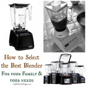 How to Select the Best Blender for your family + Blendtec Blender review