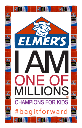 Elmers bag it forward School Supply service Project