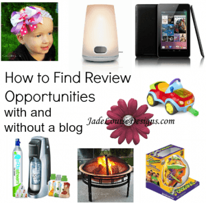 How to Find Review Opportunities with and without a blog.