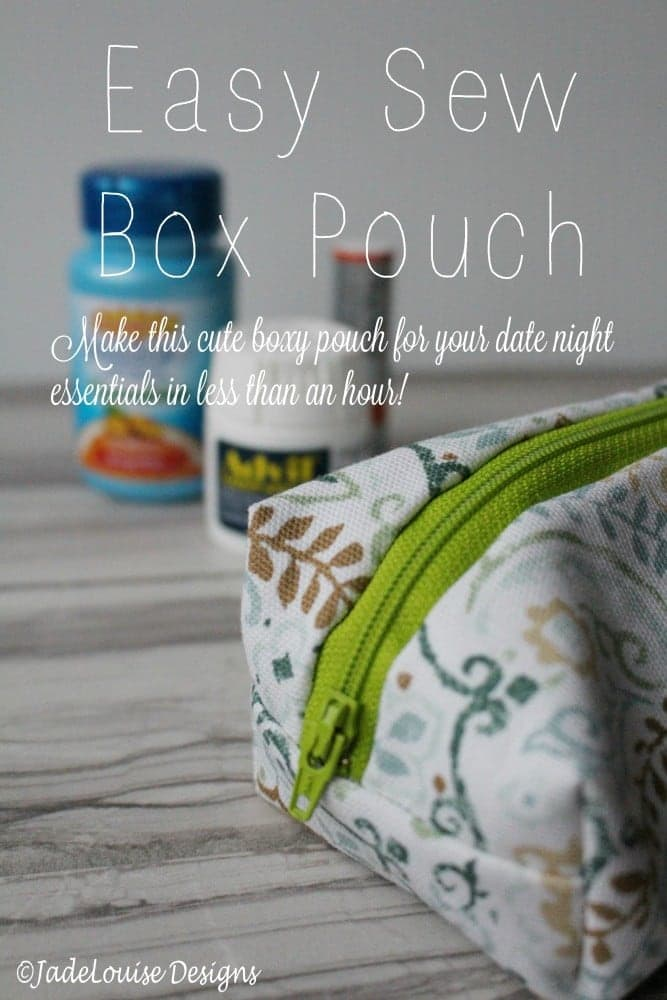 Easy Sew Box Pouch for your date night essentials