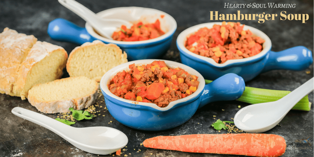 Hearty Hamburger Vegetable Soup to warm your soul & feed your appetite