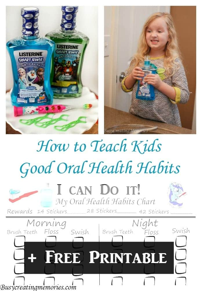How to Teach Kids Good Oral Health Habits + Free Printable
