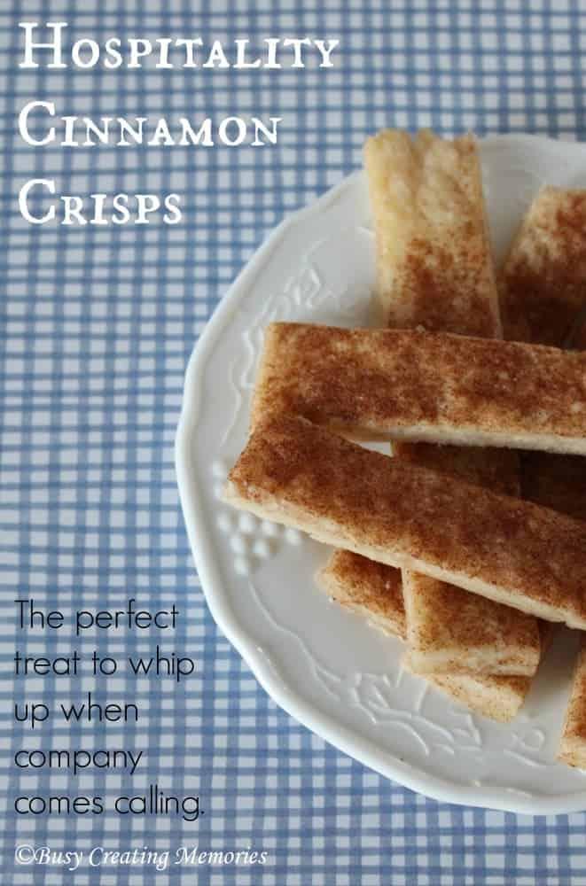 Quick and easy hospitality cinnamon crisps