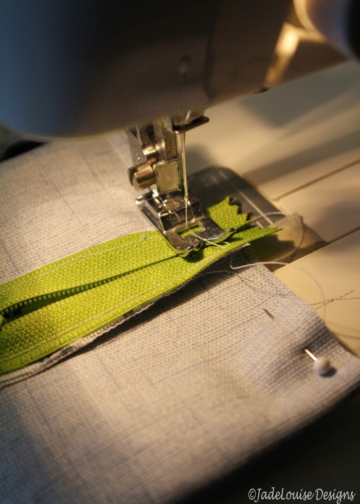 Sewing the edges