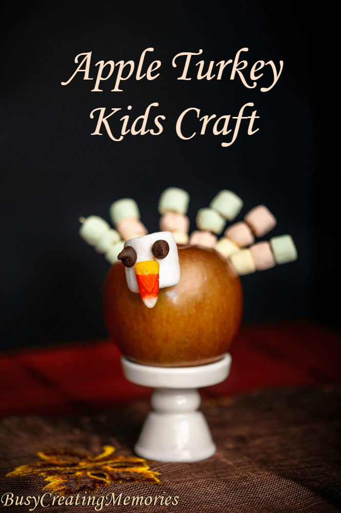 Apple Turkey Edible Thanksgiving Crafts for Kids