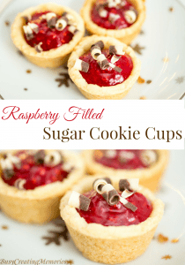 Raspberry Filled Sugar Cookie Cups Easy Holiday Treats