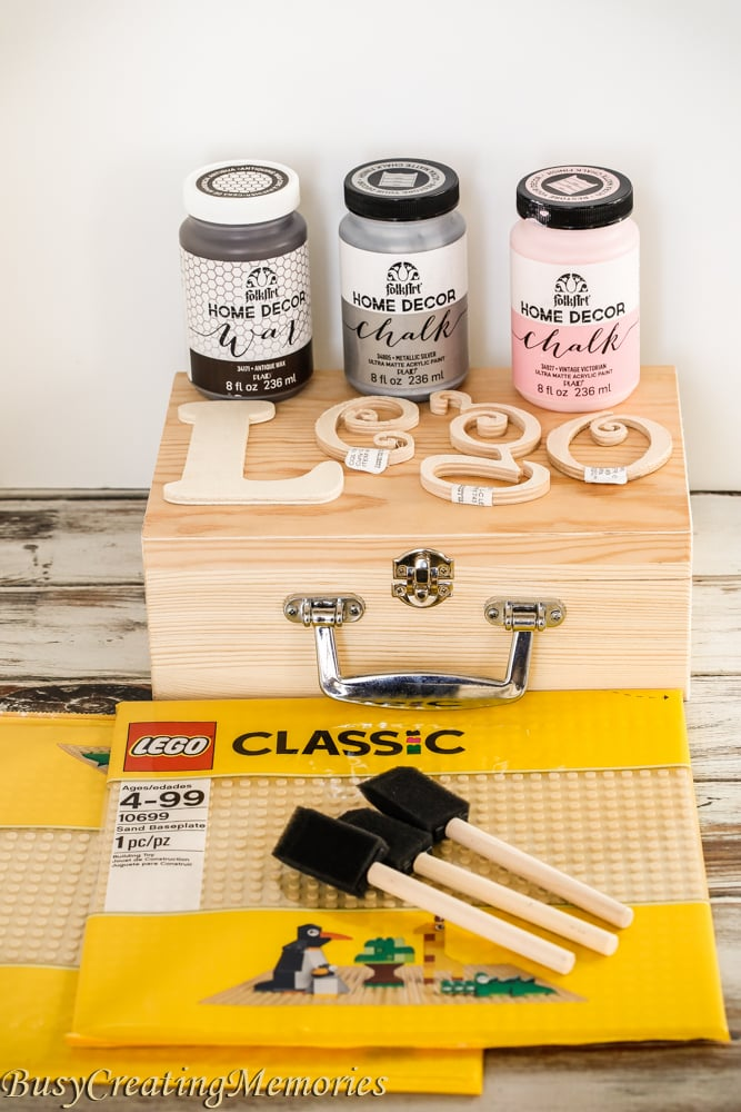 DIY Travel Lego Table Treasure Box
