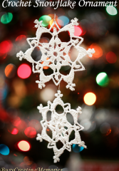 Lace Crochet Snowflake Christmas Ornament Pattern