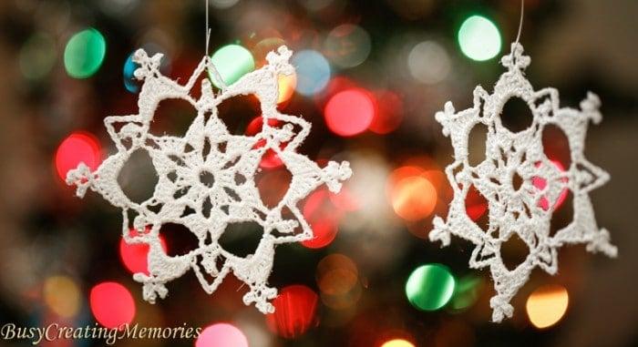 Lace Crochet Snowflake Christmas Ornament Pattern