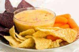 Easy Queso Cheese Dip + Holiday gathering essentials