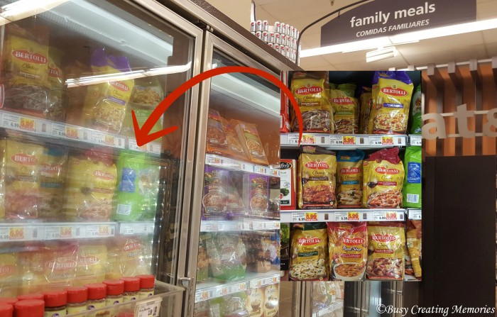 Find Bertolli in Smith's family meals freezer section