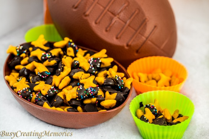 Chocolate Dipped Game Day Snacks