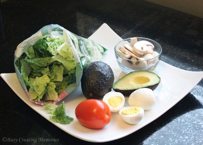 Hearty dinner salad fixings