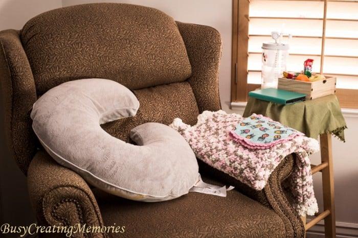 Easy set up Breastfeeding Station essentials