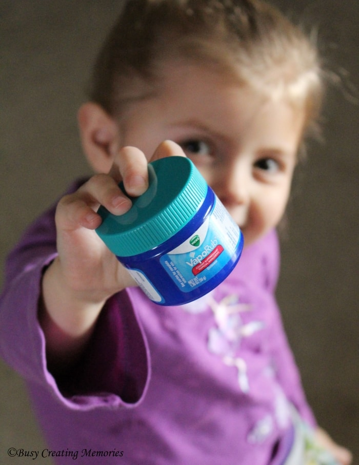 She knows to go for Vicks, just like her mom does!