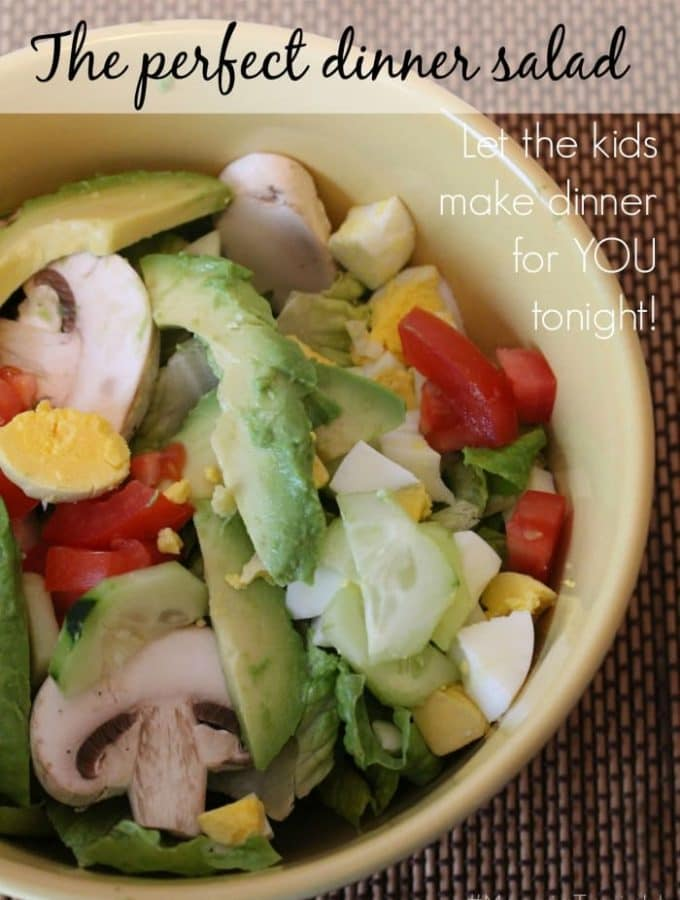 The Perfect Dinner Salad – Let the kids cook for you! #MangiaTonight