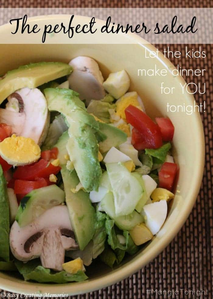The perfect dinner salad - let the kids cook for you!