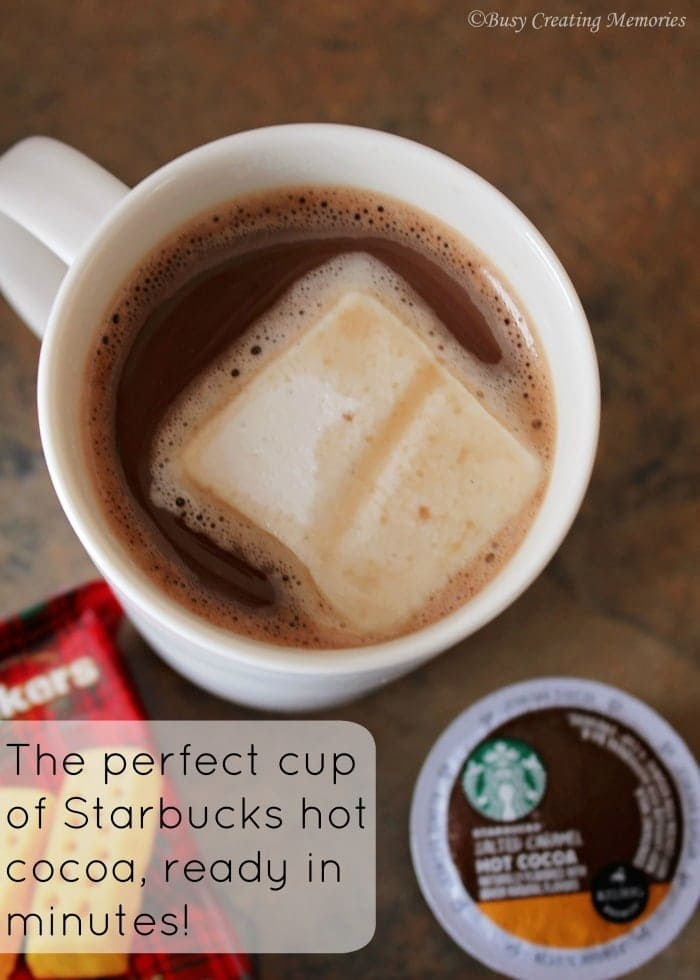 Delicious hot cocoa from Starbucks, specially made in Kcups for your Keurig!