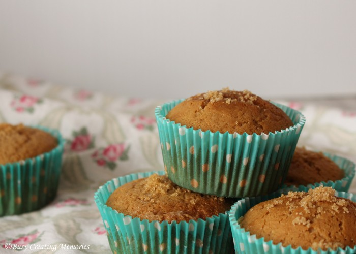 Delicious muffins made from rich brown sugar and sweet cinnamon