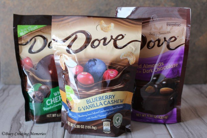 Dove Fruit and Nut has so many different options to choose from!