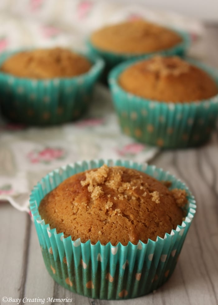 Fluffy delicious brown sugar muffins