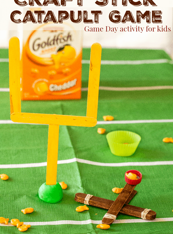 Craft Stick Catapult Game for Big Game Day Fun