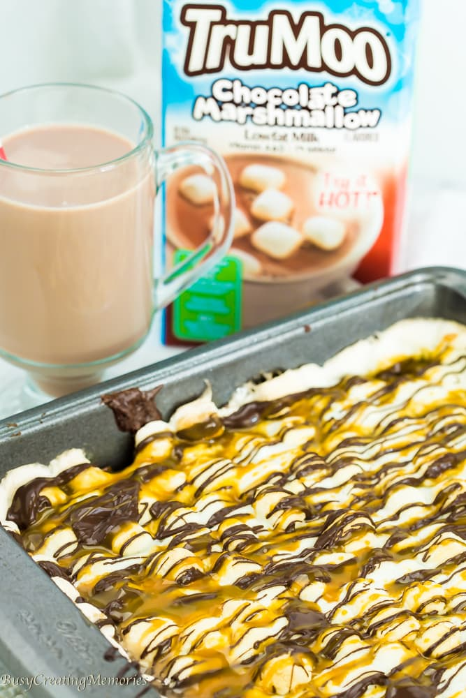 Gooey Triple Chocolate Marshmallow Caramel Brownies Recipe