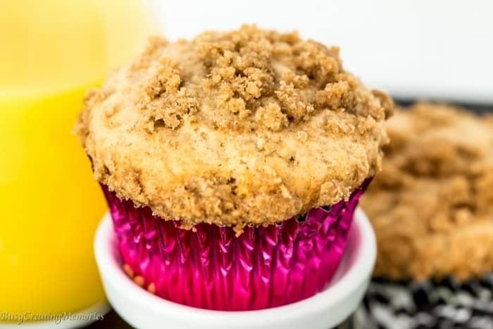Spice Crumble Cinnamon Muffins Recipe + Moist Muffin Tips