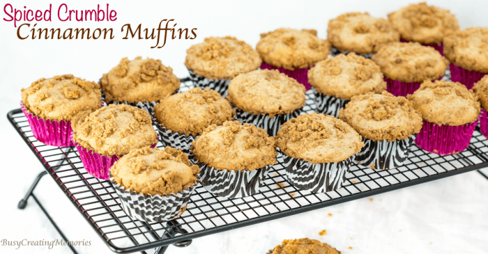 Spice Crumble Cinnamon Muffins Recipe + Moist Muffin Tips