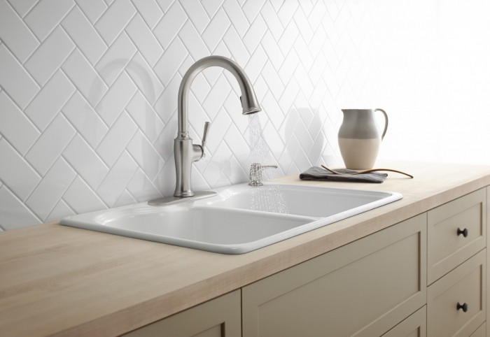 Upgrade the Kitchen the easy way with a Kohler Faucet at Lowes