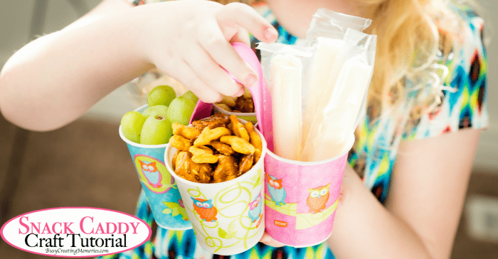 Easy DIY Kids Snack Caddy Craft